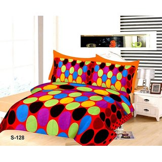 3d printed double bedsheet with 2 pillow cover 00X