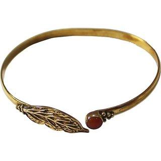 athizay Brass, Stone Beads Yellow Gold Bracelet