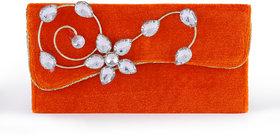 Carnival Orange Fabric Box Clutch