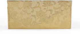 Carnival Gold Fabric Box Clutch