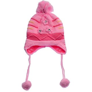 37125024fff Buy Tahiro Pink Baby Woollen Cap - Pack Of 1 Online - Get 44% Off