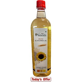 Farm Naturelle (Farm Natural Produce) Organic Virgin Cold Pressed Sunflower Oil 915 Ml