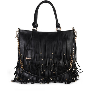 Diana Korr Black Shoulder Bag DK96HBLK