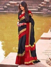 Elegant Saree Aarti Blazing Black