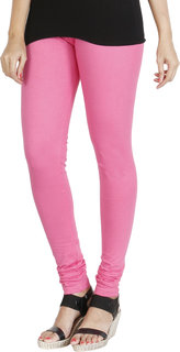 HRINKAR LIGHT PINK Soft Cotton Lycra Plain leggings womens and girls combo Size - L, XL, XXL - HLGS1535-XXL