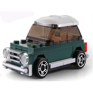 Decool 2222 62Pcs Mini Racing Pacemaker Car Block Construction Toy With Pullback Action Illustration