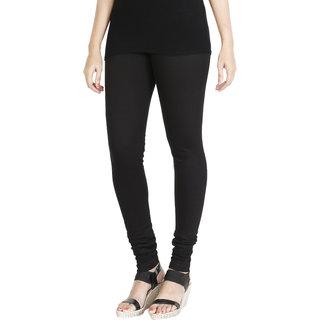 HRINKAR BLACK Soft Cotton Lycra Plain leggings for girls Size - L XL XXL - HLGS1528-L
