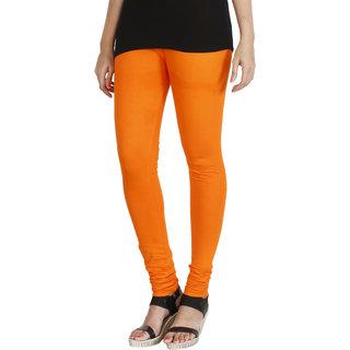 HRINKAR BRIGHT ORANGE Soft Cotton Lycra Plain girls leggings combo Size - L XL XXL - HLGS1532-XL