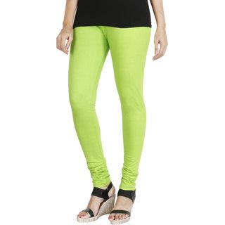 HRINKAR FLUROSCENT GREEN Soft Cotton Lycra Plain leggings for girls combo Size - L XL XXL - HLGS1534-XL