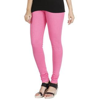 HRINKAR LIGHT PINK Soft Cotton Lycra Plain girls leggings combo Size - L XL XXL - HLGS1535-L