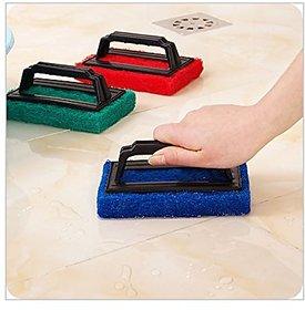 SUPER SCUBER WITH HANDle Kitchen Bathroom Basin BathTub Super Scrubber Cleaner, Scrub Sponge Brush with Handle Washing