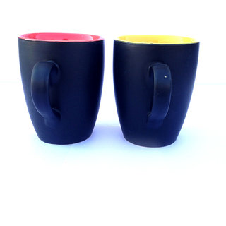 Chi Red  Yellow Ceramic Mug set of 2