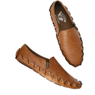 Men's Tan Sythentic Driving Shoes
