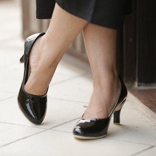 Meia Womens Black Heels