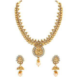 MJ Smooth Gold Plated Necklace Set For Women