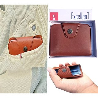 ATM Card Holder 12 Card Brown or black 1 piece (Synthetic leather/Rexine)