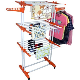 BRANCO Heavy Cloth Dryer Stand 2 Poll - 3 Layer - Prince Jumbo (Genuine) (7 Year WarrantyMade in India)