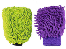 Microfibre Cleaning Gloves (Set Of 2 Pcs)