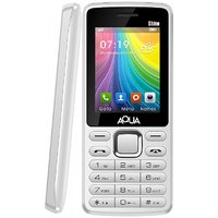 Aqua Shine Dual SIM Basic Mobile Phone - White - 2100 M