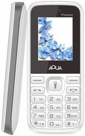 Aqua Phoenix Dual SIM Basic Mobile Phone - White+Grey