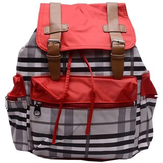 girls fashion cute red check bag