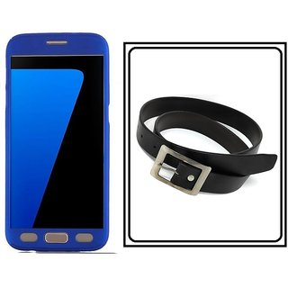 Samsung Galaxy On8 360 Degree Full Cover  With Free Men's, Boy's PU Leather Belt(Black)