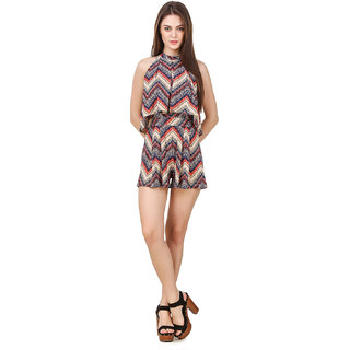 Texco WomenS Multicolor Chevron Printed Jumpsuit