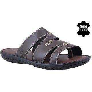 MyWalk Mens Brown Velcro Sandals