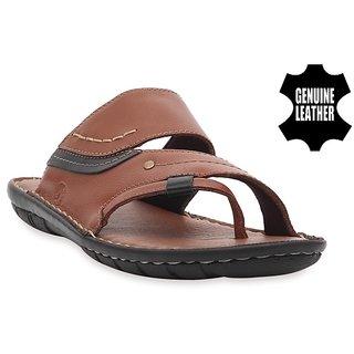 MyWalk Mens Tan Velcro Sandals