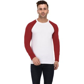 Round Neck Full  White -Mb- Men T-Shirt