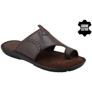 MyWalk Mens Brown Velcro Sandals
