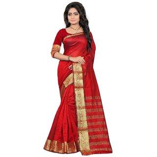 Art Silk Banarasi saree with un-stiched blouse