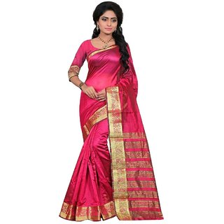 282ccb1929b Buy Art Silk Banarasi saree with un-stiched blouse Online - Get 58% Off