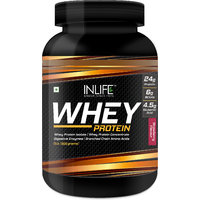 INLIFE Whey Protein Powder 2 Lbs (Strawberry Flavour)