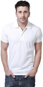 Concepts White Polyester Polo Tshirt