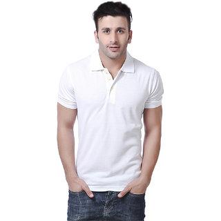 Concepts White Poly Cotton Polo Tshirt