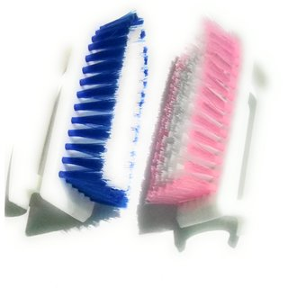 Cloth Cleaning Brush, multicolored Good grip smooth Brush, washing use will be perfect, (set of 2)