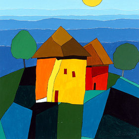 Harmony Arts Online Presents Little Home painting For Childeren's Room. Model no  cr31 ( Size  16 x 16 In. )