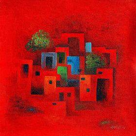 Harmony Arts Online Presents Beautiful Abstract painting For Home  Office Decor. Model no  ab301b ( Size  20 x 20 In. )