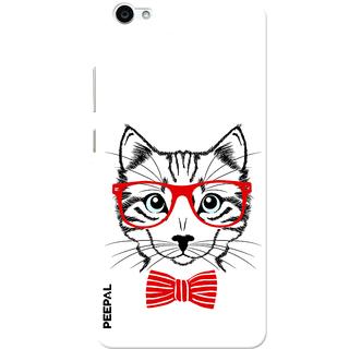 PEEPAL Vivo V5 Designer & Printed Case Cover 3D Printing Gentelman Cat Design