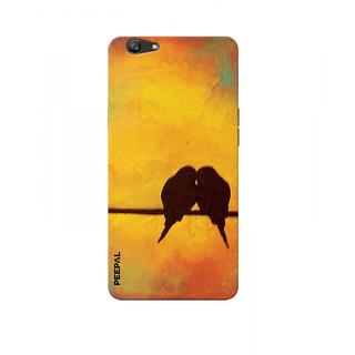 PEEPAL Oppo F3 Designer & Printed Case Cover 3D Printing Love Birds Design
