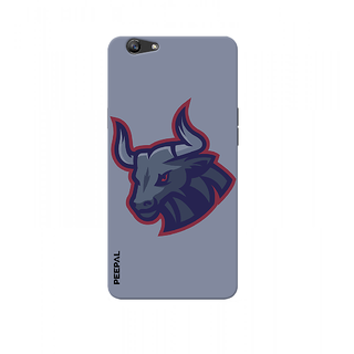 PEEPAL Oppo F3 Designer & Printed Case Cover 3D Printing Angy Bull Design
