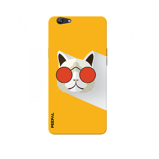 PEEPAL Oppo F3 Designer & Printed Case Cover 3D Printing Stylish Cat Design