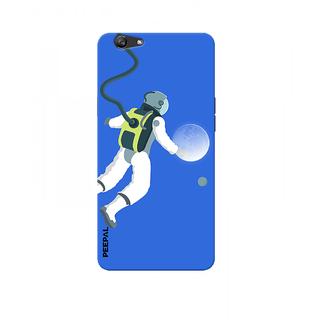 PEEPAL Oppo F3 Designer & Printed Case Cover 3D Printing Moon Traveler Design