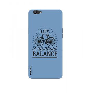 PEEPAL Oppo F3 Designer & Printed Case Cover 3D Printing Balance Design