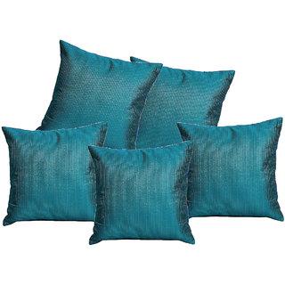 Elite Eternally Blue Silk Cushion Covers