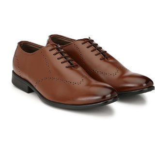 Prolific Men Tan Formal Shoes