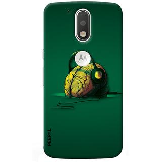 PEEPAL Motorola G4 Plus Designer & Printed Case Cover 3D Printing Music In Mind Design