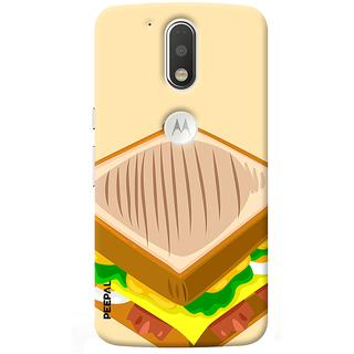 PEEPAL Motorola G4 Plus Designer & Printed Case Cover 3D Printing Sandwitch Design