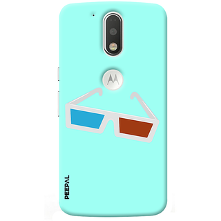 PEEPAL Motorola G4 Plus Designer & Printed Case Cover 3D Printing 3D Glasses Design